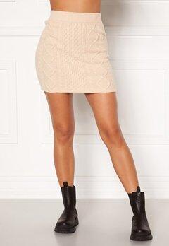 BUBBLEROOM Aisha knitted skirt Cream bubbleroom.dk