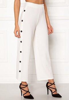 BUBBLEROOM Alexa button trousers White / Black Bubbleroom.dk
