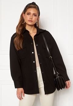 BUBBLEROOM Alice Shirt Jacket Black Bubbleroom.dk