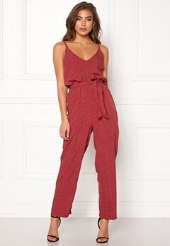 BUBBLEROOM Amal jumpsuit Red / White / Dotted Bubbleroom.dk