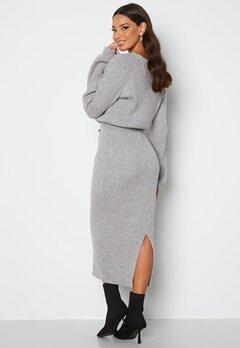 BUBBLEROOM Amira knitted dress Grey melange bubbleroom.dk