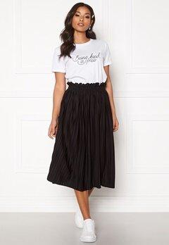 BUBBLEROOM Anna midi pleated skirt Black Bubbleroom.dk