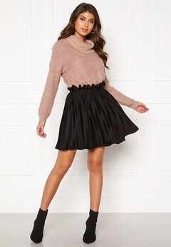 BUBBLEROOM Anna short pleated skirt Black Bubbleroom.dk