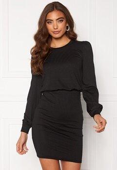 BUBBLEROOM Besa long sleeve short dress  Black Bubbleroom.dk
