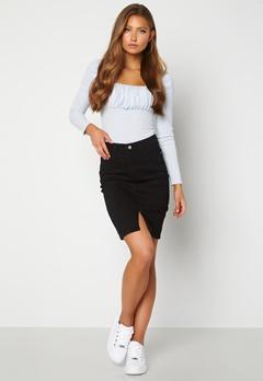 BUBBLEROOM Bianca denim skirt Black Bubbleroom.dk