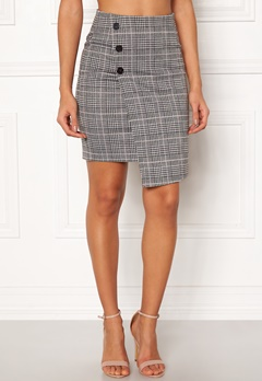 BUBBLEROOM Brienne skirt Grey / Pink / Checked Bubbleroom.dk