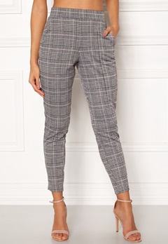 BUBBLEROOM Brienne trousers Grey / Pink / Checked Bubbleroom.dk