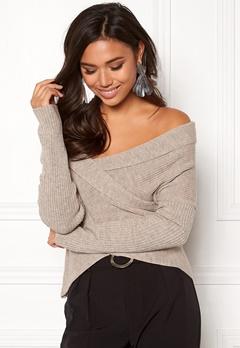 BUBBLEROOM Brixia knitted sweater Beige melange Bubbleroom.dk