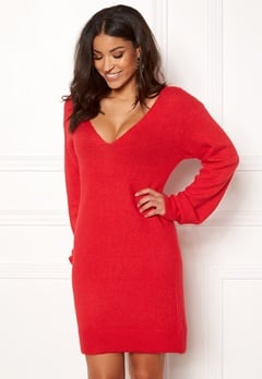 BUBBLEROOM Brooke knitted dress Red Bubbleroom.dk