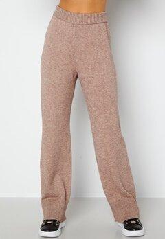 Bubbleroom Care Rinja Knitted Trousers Nougat / Melange bubbleroom.dk