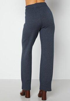 Bubbleroom Care Rinja Knitted Trousers Dusty blue / Melange bubbleroom.dk