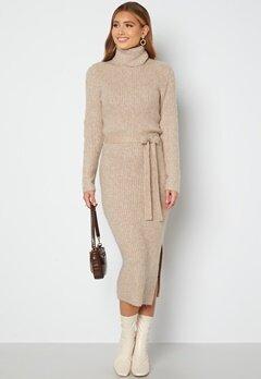 Bubbleroom Care Sirie Knitted Dress Beige bubbleroom.dk