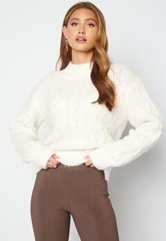 Bubbleroom Care Verina Knitted Sweater Offwhite bubbleroom.dk
