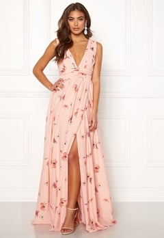 00a1f962e519 BUBBLEROOM Carolina Gynning Butterfly gown Light pink   Patterned  Bubbleroom.dk