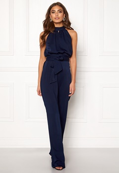 BUBBLEROOM Carolina Gynning High neck jumpsuit Dark blue Bubbleroom.dk