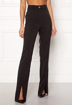 BUBBLEROOM Carolina Gynning Slitted trouser Black Bubbleroom.dk
