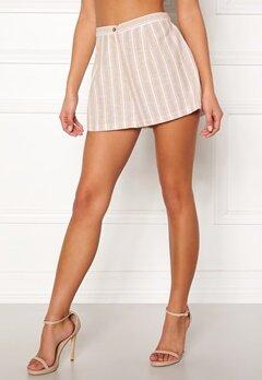 BUBBLEROOM Chiselle shorts Beige / White / Striped Bubbleroom.dk