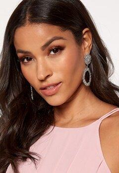 BUBBLEROOM Crystal earrings Silver coloured Bubbleroom.dk