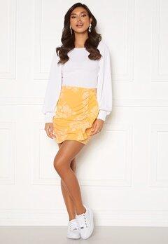 BUBBLEROOM Deb frill skirt Yellow / White bubbleroom.dk