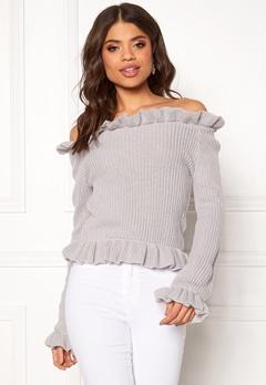 BUBBLEROOM Eliana knitted sweater Light grey Bubbleroom.dk