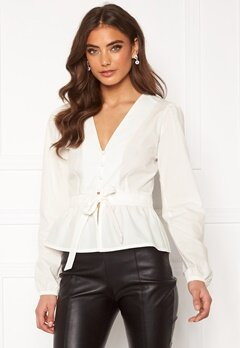 BUBBLEROOM Elina blouse White Bubbleroom.dk