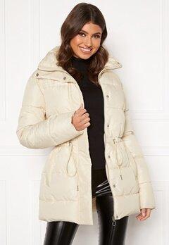 BUBBLEROOM Ellinora tie waist puffer jacket Beige Bubbleroom.dk