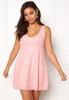 BUBBLEROOM Elly lace dress Light pink Bubbleroom.dk