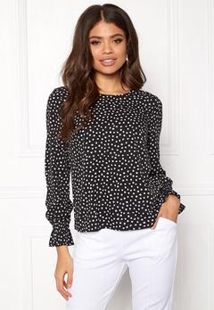 BUBBLEROOM Elma blouse Black / White / Dotted Bubbleroom.dk