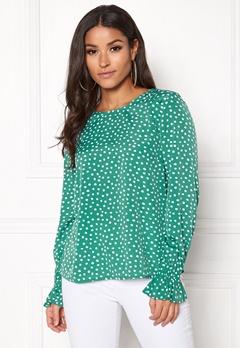 BUBBLEROOM Elma blouse Green / White / Dotted Bubbleroom.dk