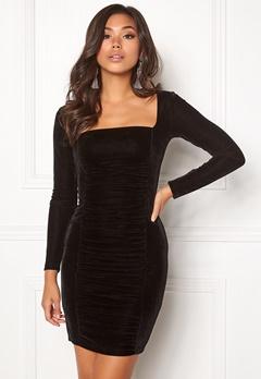 BUBBLEROOM Emeline rouched dress Black Bubbleroom.dk