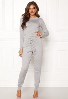 BUBBLEROOM Filippa fine knitted set Grey melange Bubbleroom.dk