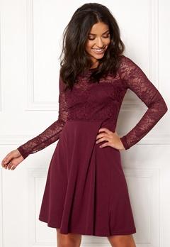 BUBBLEROOM Grace lace dress Wine-red Bubbleroom.dk
