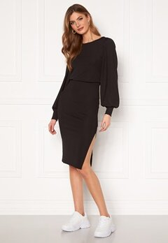 BUBBLEROOM Gry balloon sleeve dress Black Bubbleroom.dk