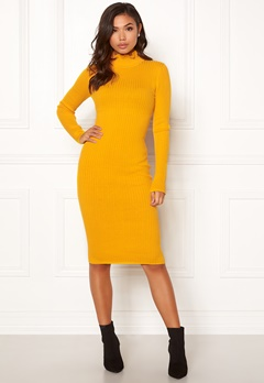BUBBLEROOM Hilma knitted dress Mustard yellow Bubbleroom.dk