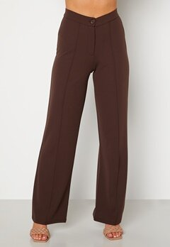 BUBBLEROOM Hilma soft suit trousers Dark brown bubbleroom.dk