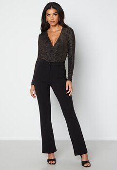BUBBLEROOM Idarina soft flared suit trousers Black bubbleroom.dk