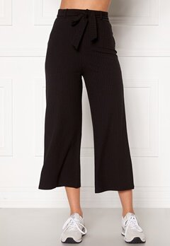 BUBBLEROOM Indira rib trousers Black Bubbleroom.dk