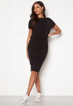 BUBBLEROOM Indira short sleeve dress Black Bubbleroom.dk