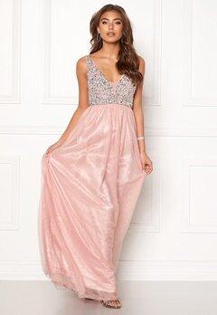 BUBBLEROOM Ivory embellished prom dress Light pink Bubbleroom.dk