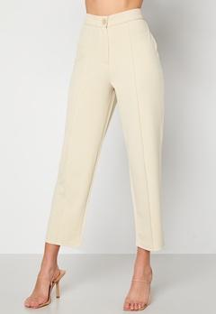BUBBLEROOM Joanna soft suit pants Light beige Bubbleroom.dk