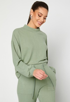 BUBBLEROOM Juno supersoft sweater Green Bubbleroom.dk