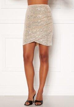 BUBBLEROOM Kira sparkling skirt Champagne / Silver Bubbleroom.dk