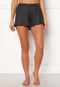 BUBBLEROOM Laila satin shorts Black / Dotted Bubbleroom.dk