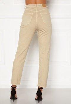 BUBBLEROOM Lana high waist jeans Beige Bubbleroom.dk