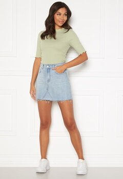 BUBBLEROOM Laney denim skirt Light denim Bubbleroom.dk