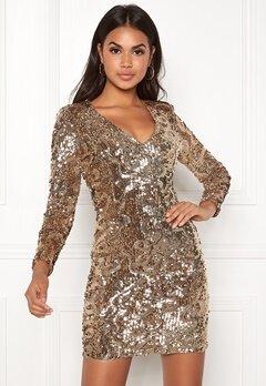 BUBBLEROOM Lene sequin dress Gold Bubbleroom.dk