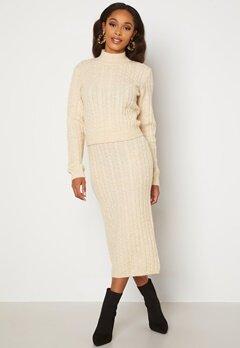 BUBBLEROOM Lively knitted skirt Cream bubbleroom.dk