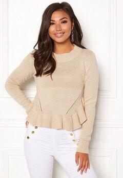 BUBBLEROOM Livia knitted sweater Beige Bubbleroom.dk