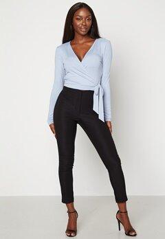 BUBBLEROOM Lorene stretchy suit trousers Black bubbleroom.dk