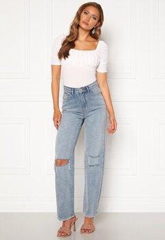 BUBBLEROOM Lori straight leg jeans Light denim Bubbleroom.dk